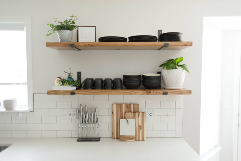 The Benefits Of Open Shelving In The Kitchen: DIY Kitchen Open Shelving