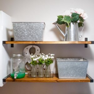 Get Budget-Friendly, Open Shelving using IKEA's Ebky Brackets