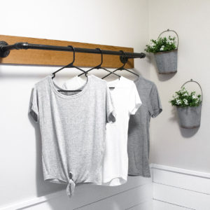 DIY Wall Mounted Clothing Rack