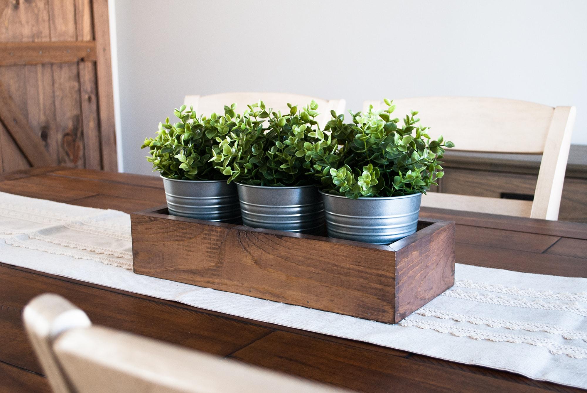Diy wood box centerpiece sammy on state