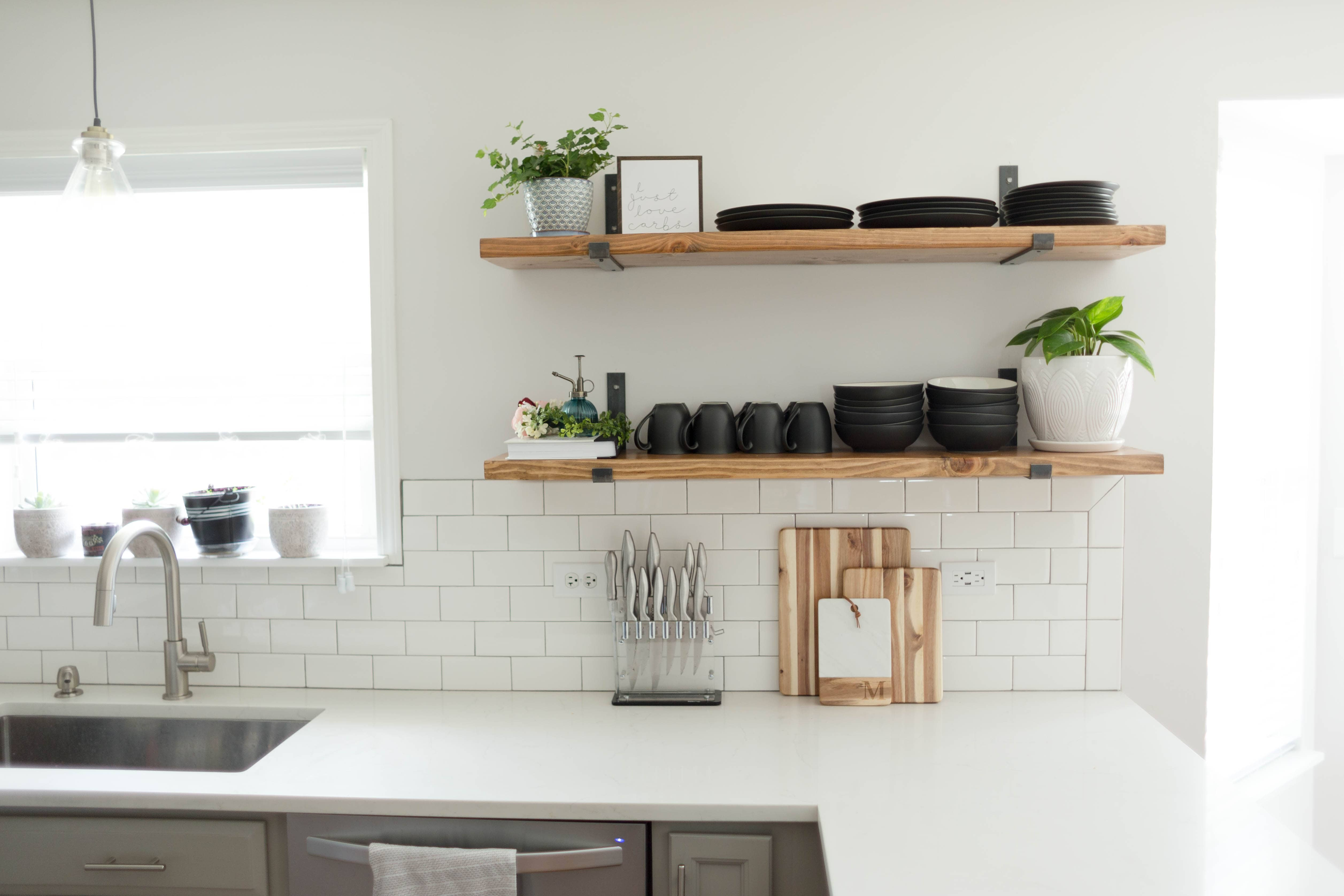 DIY Kitchen Open Shelving | Sammy On State