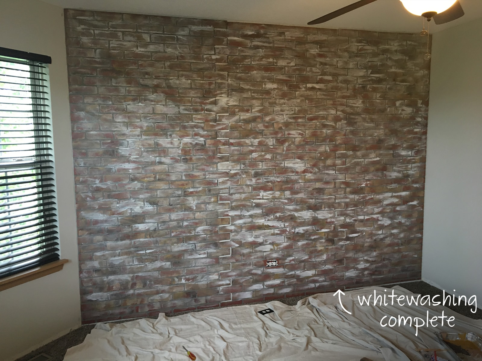 DIY Faux Aged Brick Wall | Sammy On State