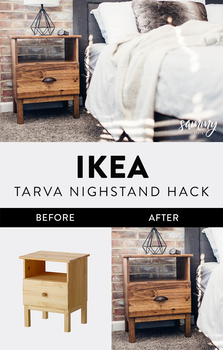 Simple Ikea Tarva Nightstand Hack Sammy On State